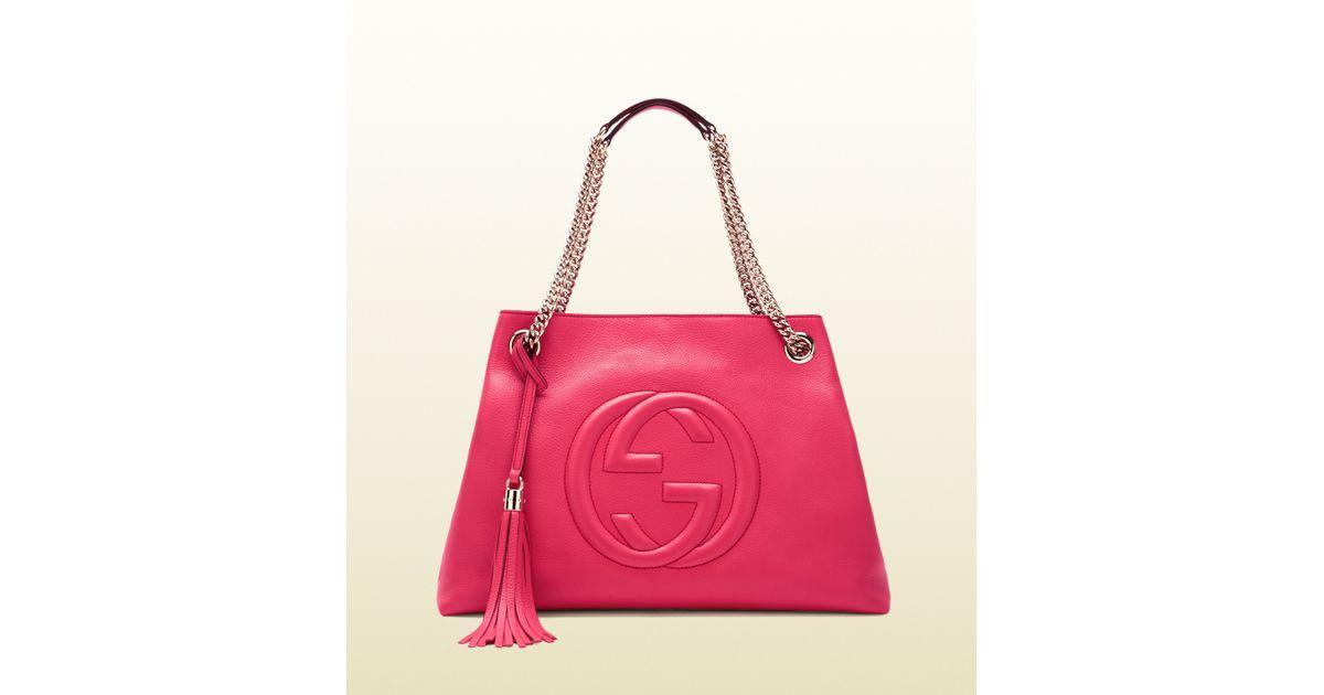 59da7c21b332 Innovatenortheastflorida.com Gucci Soho Shocking Pink Leather ...