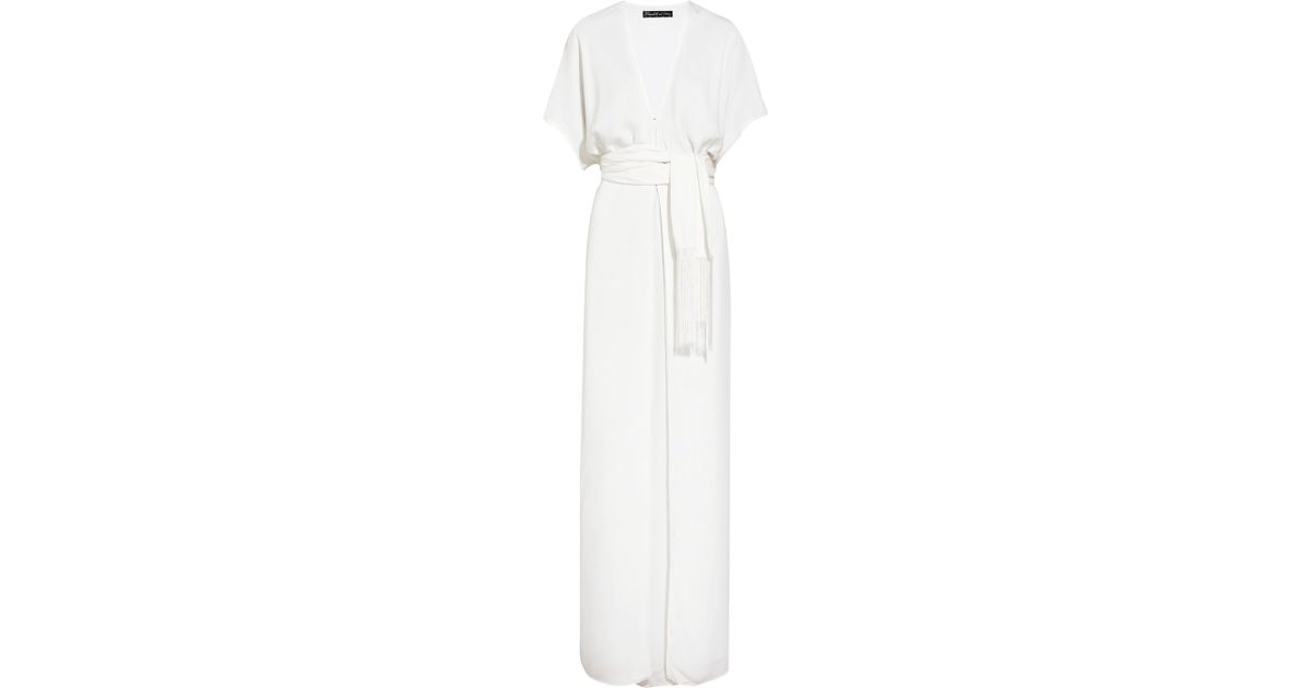 764a67145 Elizabeth and James Anita Belted Kimono Maxi Dress in White - Lyst