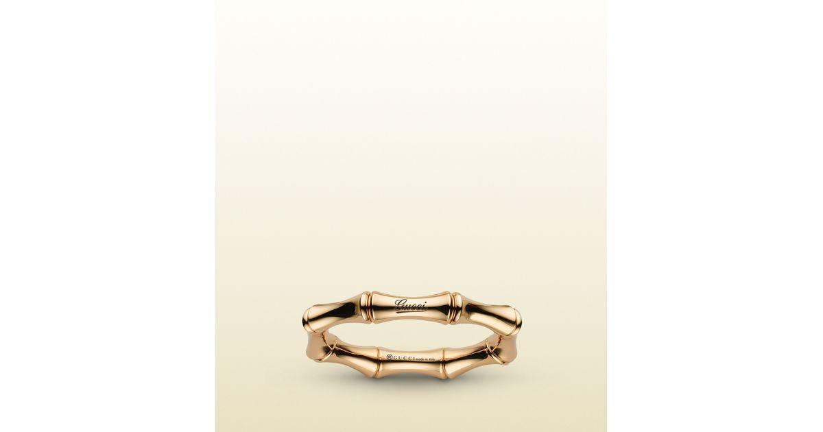 3eee34e6eea20 Gucci Metallic Bamboo Spring Ring In Yellow Gold