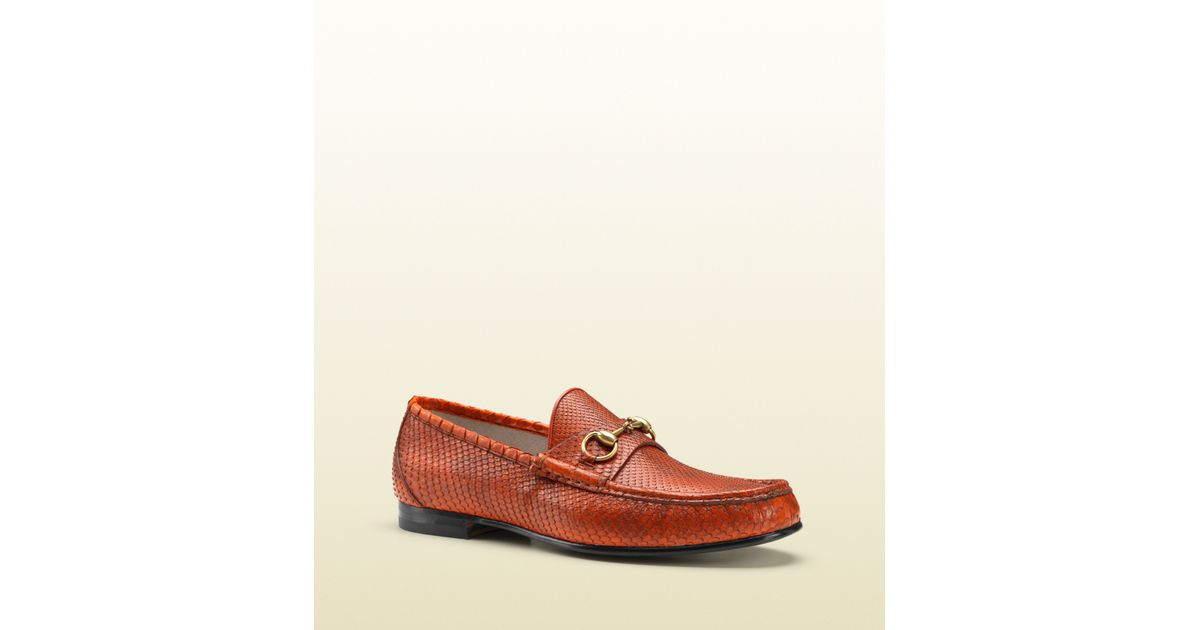 7e24a6356fc Lyst - Gucci 1953 Horsebit Loafer In Python in Brown for Men