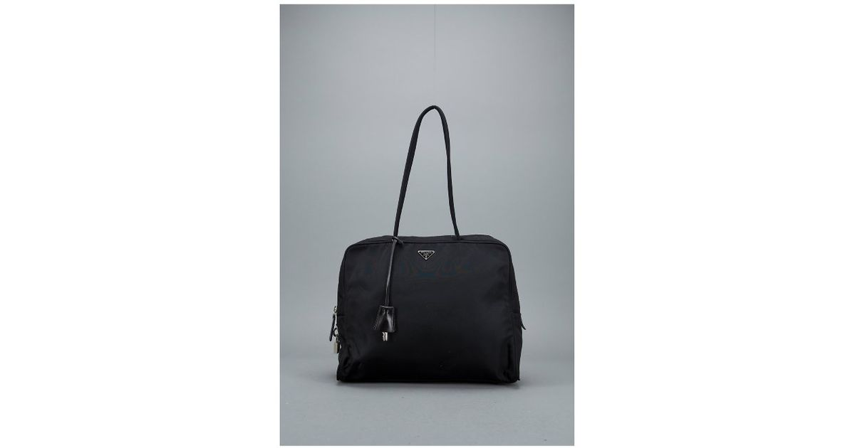 f9ef7b9965f753 ... coupon code for lyst prada black nylon and leather vintage tote bag in  black 9072e 79c70