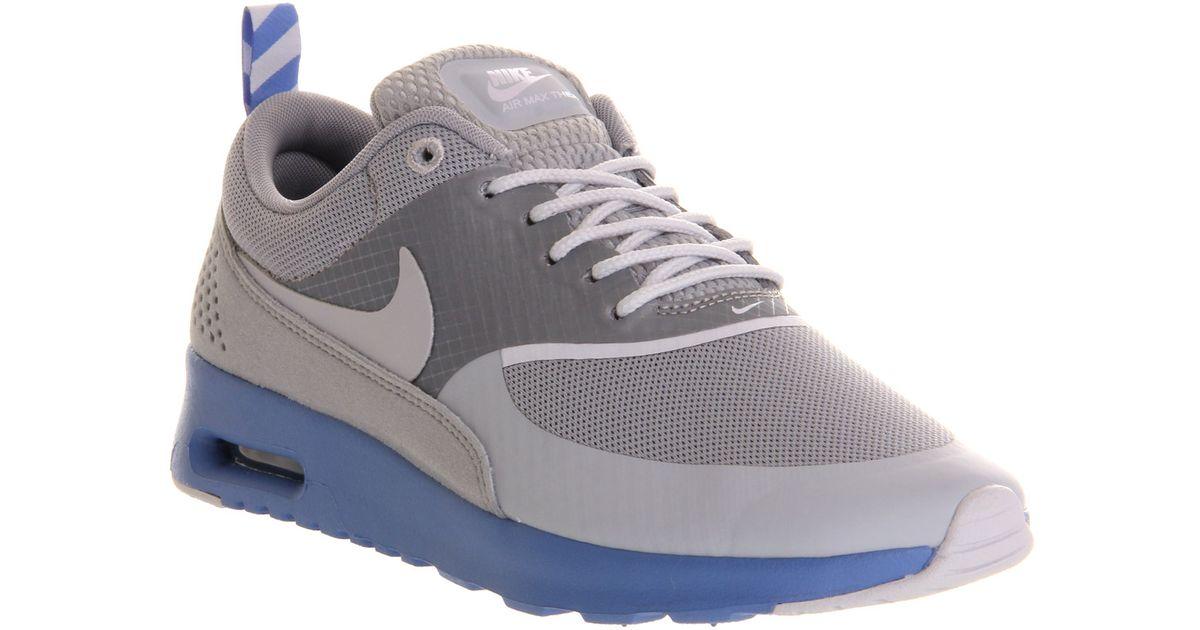 reputable site ffbaf f4482 Nike Air Max Thea Grey Blue Sparkle in Gray - Lyst