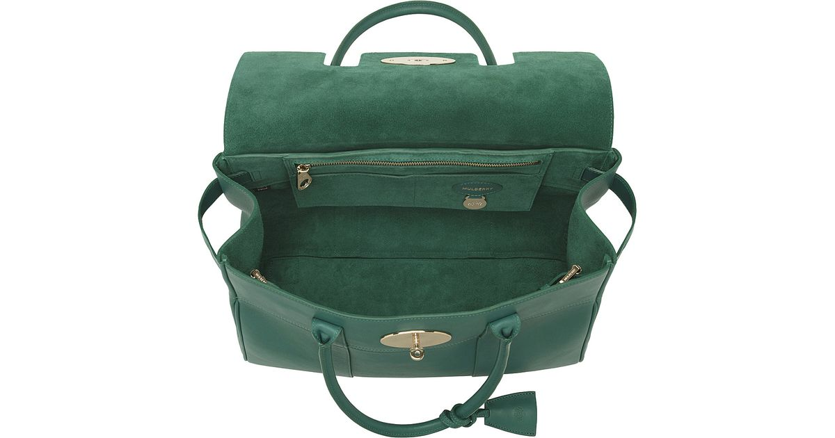 0f86c3d89a ... shopping mulberry bayswater glossy goat leather tote in green lyst  7bc69 16606