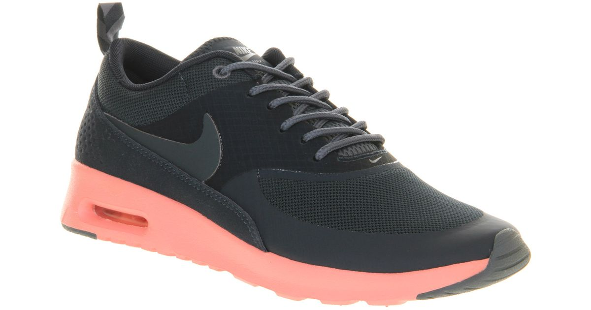 nike air max thea army navy atomic pink in black lyst. Black Bedroom Furniture Sets. Home Design Ideas