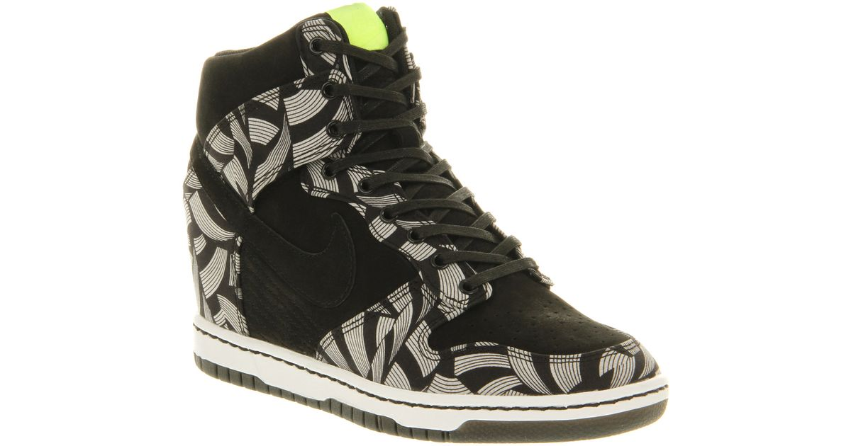 exclusive deals release info on official images Nike Dunk Sky Hi Black Volt Liberty Qs in Gray - Lyst