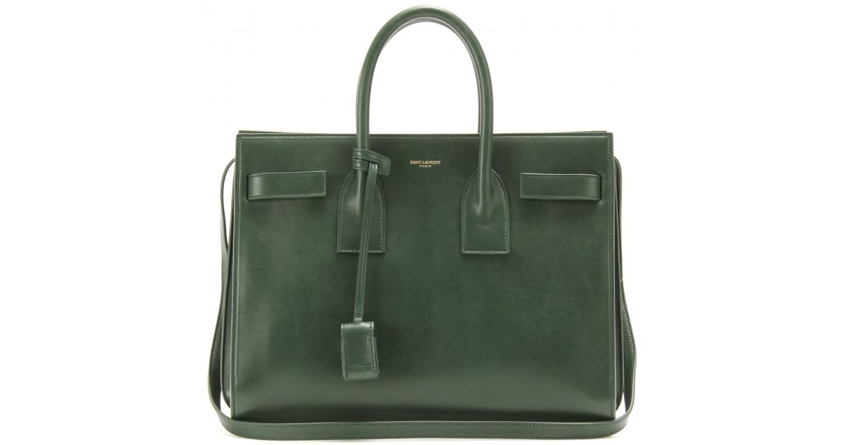 Lyst Saint Laurent Sac De Jour Small Leather Tote In Green