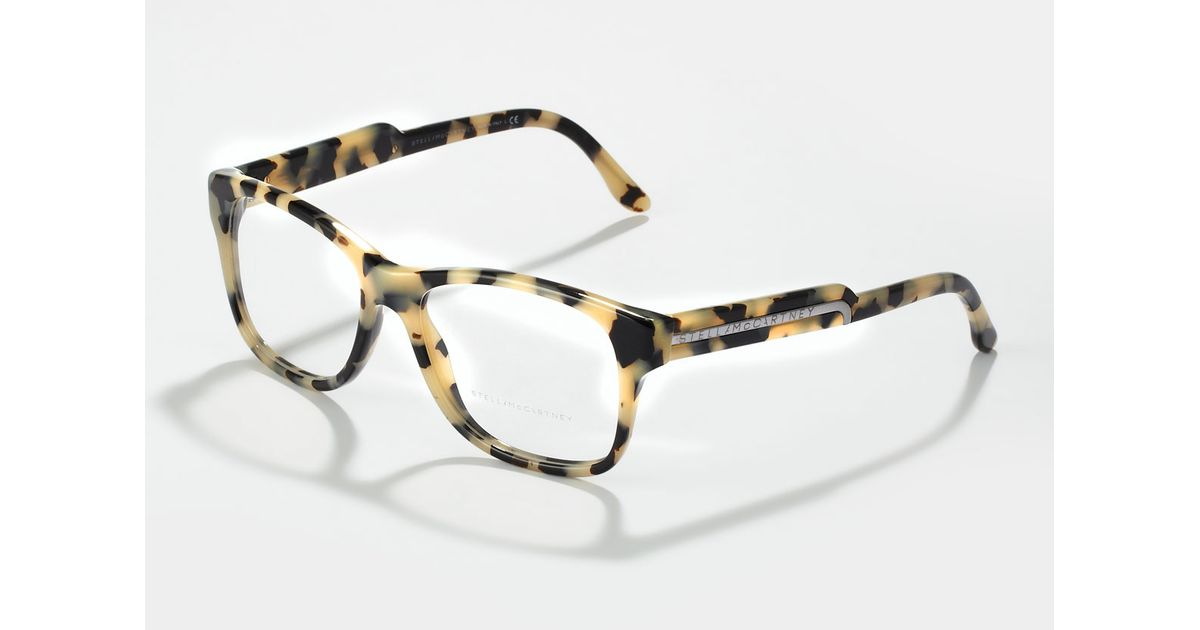 Lyst - Stella Mccartney Oversized Square Frame Fashion Glasses Gray ...