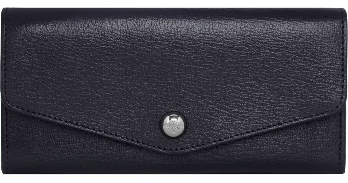 506c062b82 ... authentic mulberry dome rivet continental wallet in blue for men lyst  64ee8 84b1f