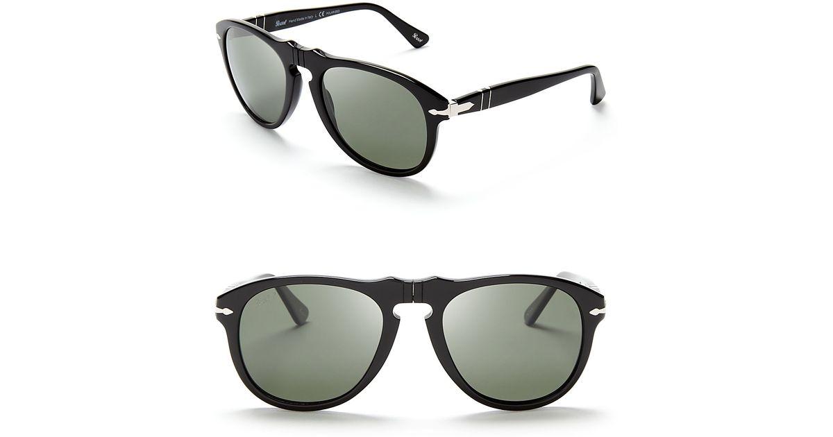 d3857a5a8e547 Persol Suprema Polarized Retro Keyhole Sunglasses in Black for Men - Lyst