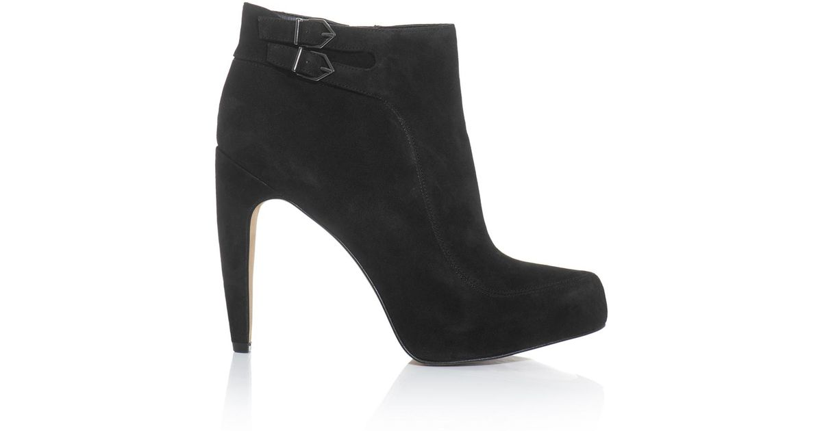 f8c4d175228f7 Sam Edelman Kit Suede Ankle Boots in Black - Lyst