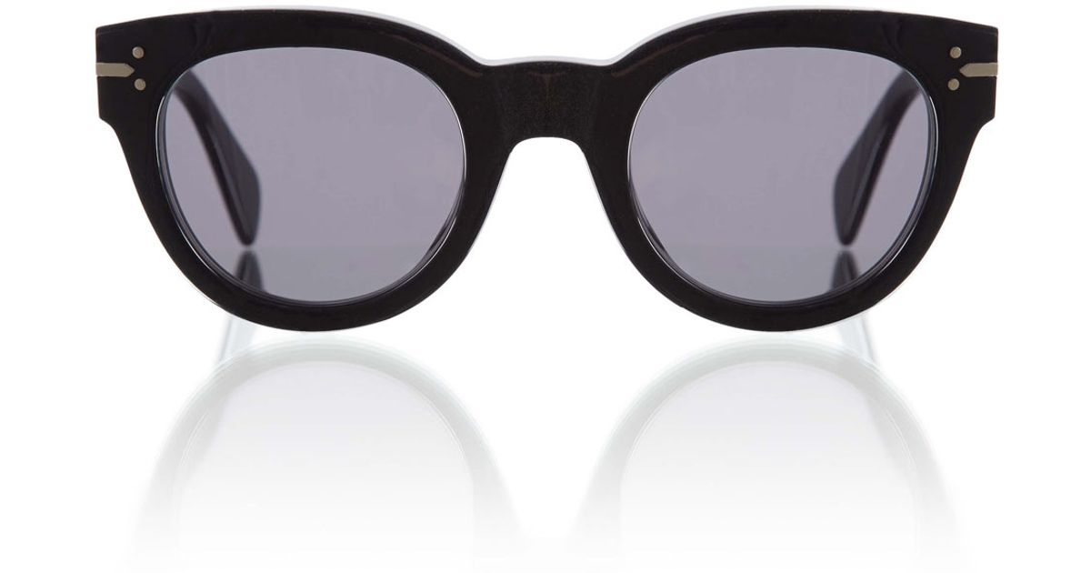 179ad4dc58a07 Céline Black New Butterfly Sunglasses in Black - Lyst
