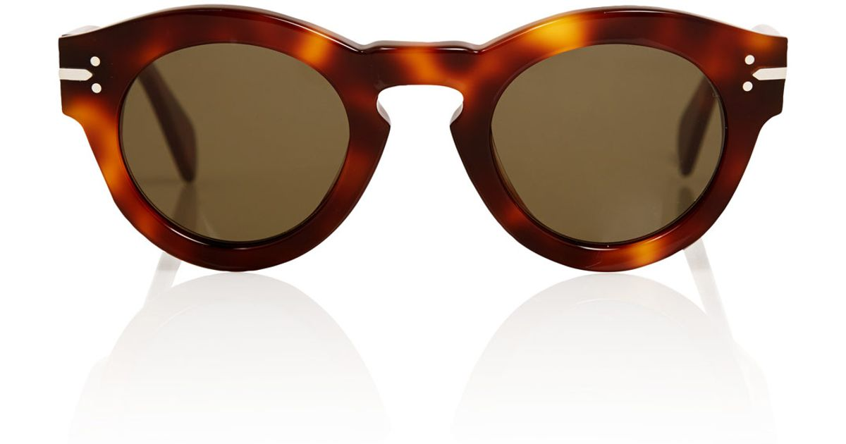 14889fbd15772 Lyst - Céline Brown New Butterfly Sunglasses in Brown