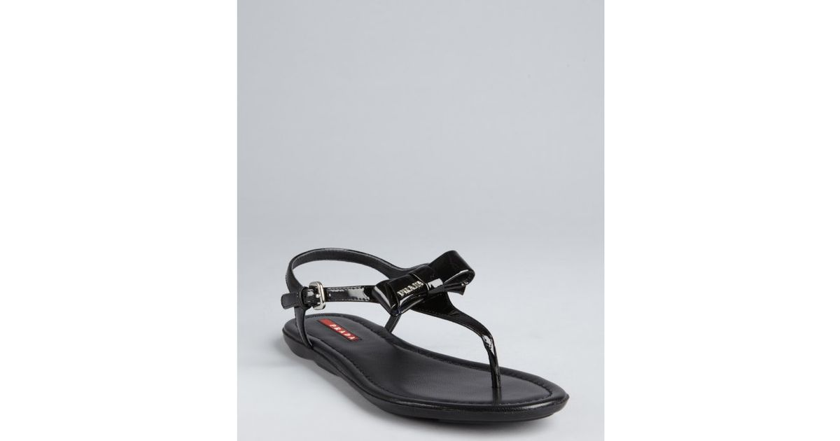 Prada Sport Bow Thong Sandals clearance the cheapest q2yhbZZ