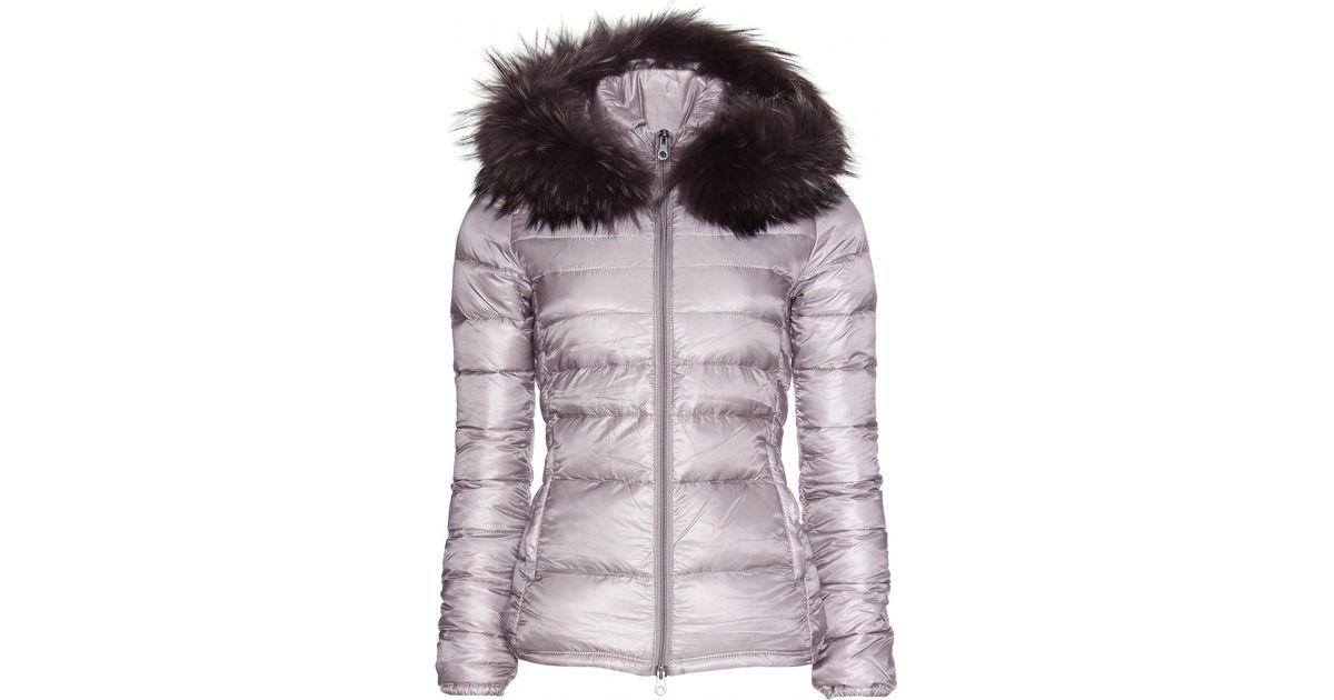 19bb2318a Duvetica Purple Nefele Down Jacket with Furtrimmed Hood