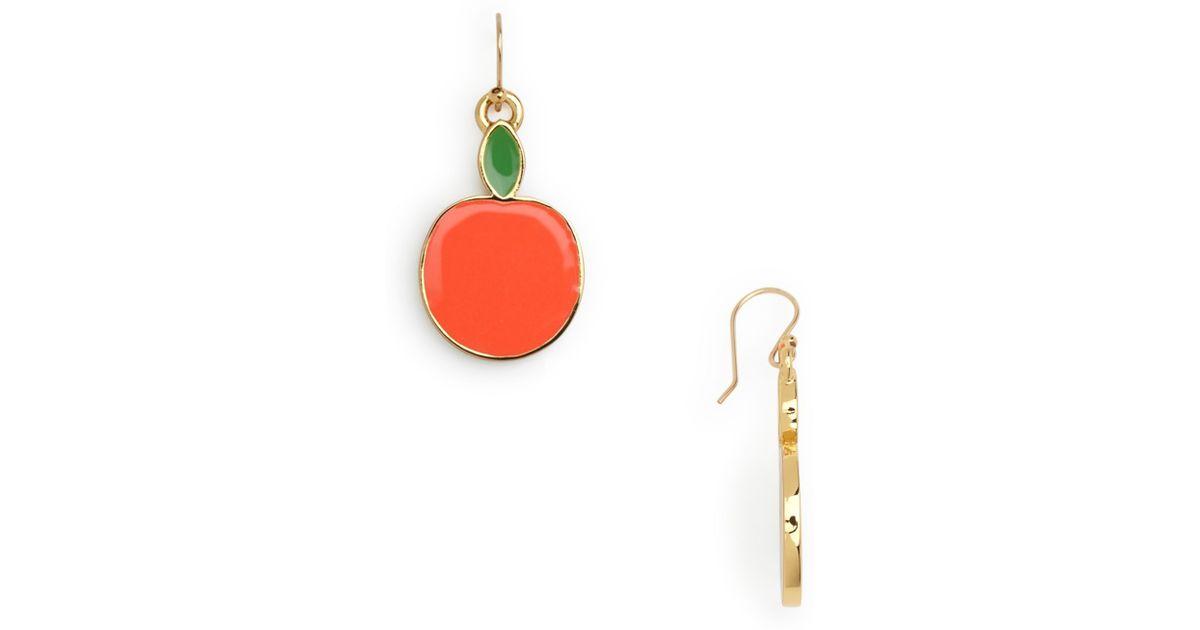 Kate Spade Darcel Apple Earrings in Red