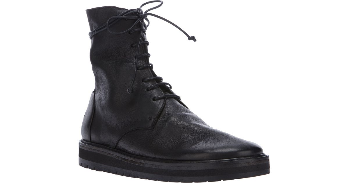 lace-up ankle boots - Black Marsèll