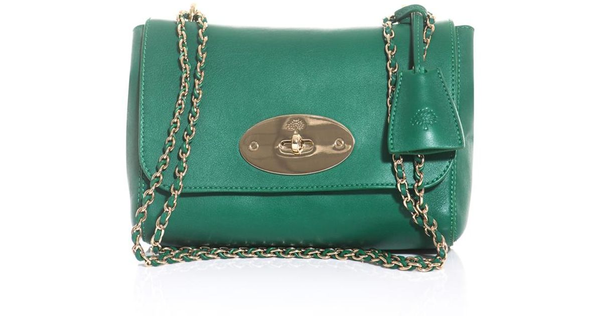767e39ab067 ... reduced lyst mulberry lily shoulder bag in green e66d7 a744b