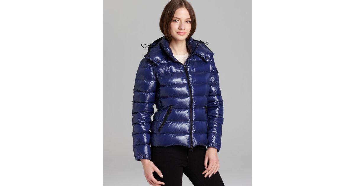 bf04defef Moncler Blue Bady Lacquer Hooded Short Down Coat