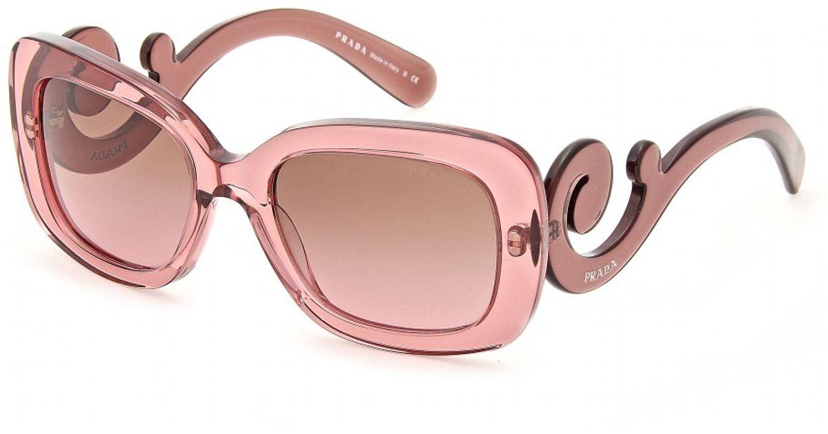 da286483b025 Prada Minimal Baroque Sunglasses in Pink - Lyst