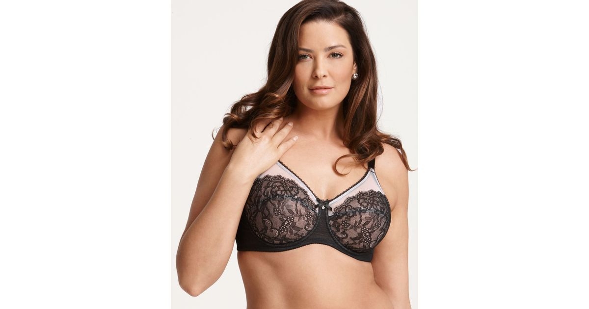 6461fcd9f06 Lyst - Wacoal Bra - Retro Chic Full Figure Unlined Underwire   855186 in  Black