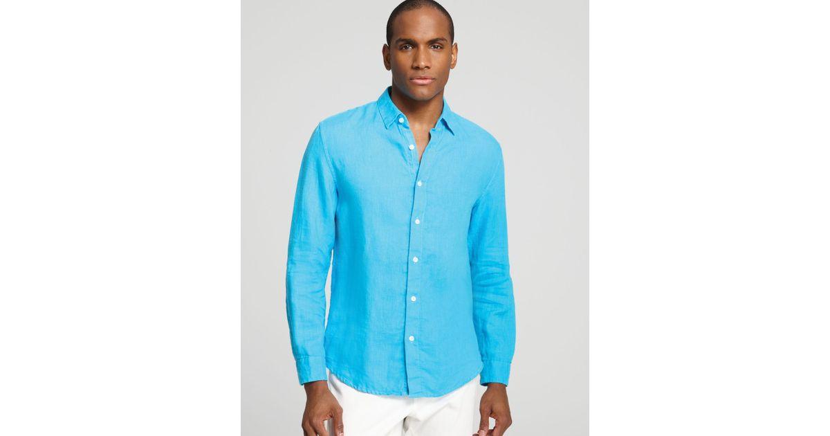 303d6ecd90 Lyst - Elie Tahari Steve Linen Sport Shirt Classic Fit in Blue for Men