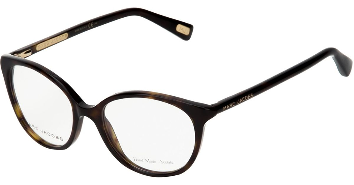 9752e31327c3 Marc Jacobs Cat Eye Glasses in Brown - Lyst