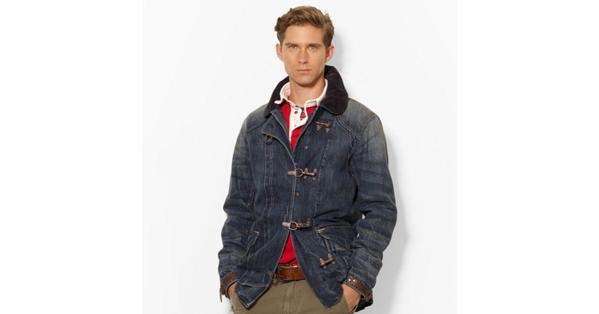 5b9dba4a84 Polo Ralph Lauren Blue Denim Firemans Coat for men