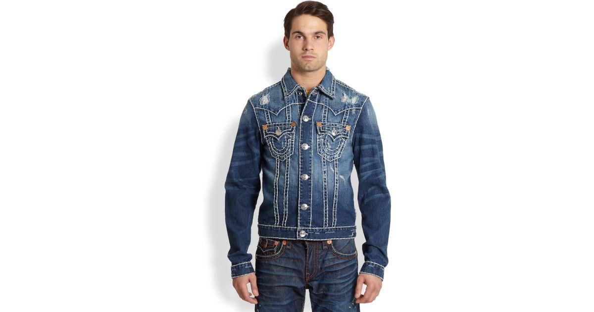 ebccfbec2 True Religion Blue Jimmy Super T Denim Jacket for men