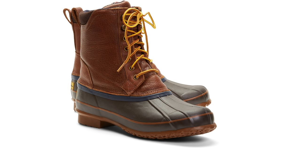 brothers duck boots in brown for lyst