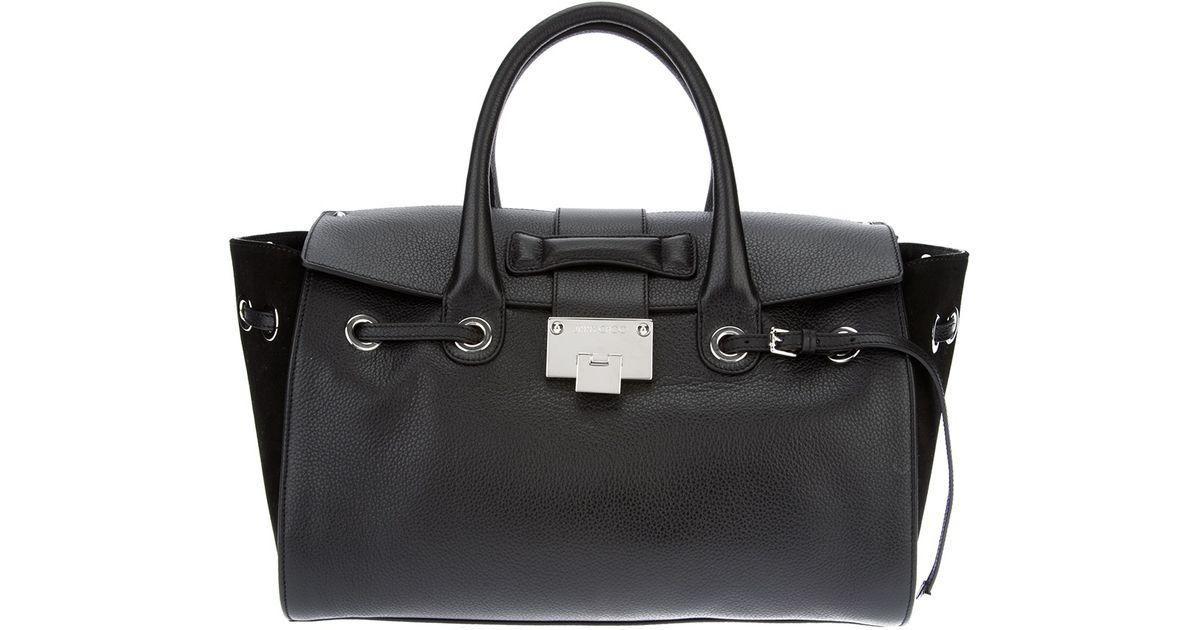 houndstooth detailed satchel bag - Black Zanellato Qz2VAcKrc