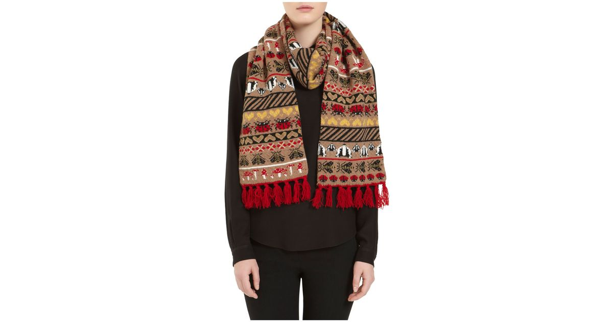 Lyst - Mulberry Motif Scarf