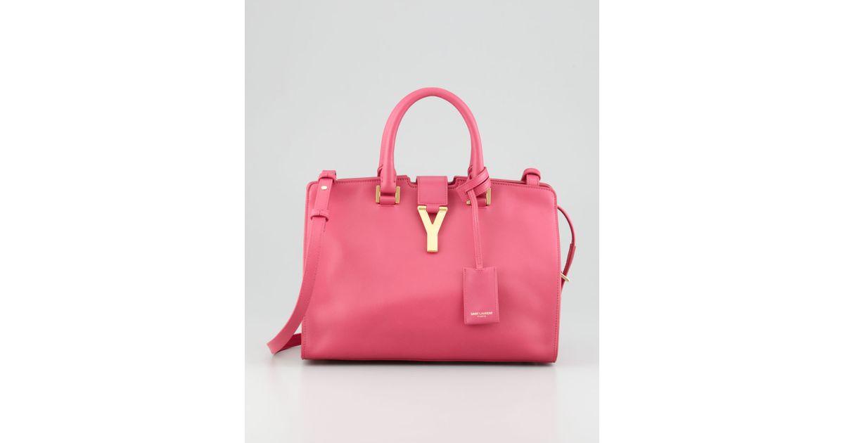 05099bc77823 Lyst - Saint Laurent Y-Ligne Cabas Mini Satchel Bag Pink in Pink