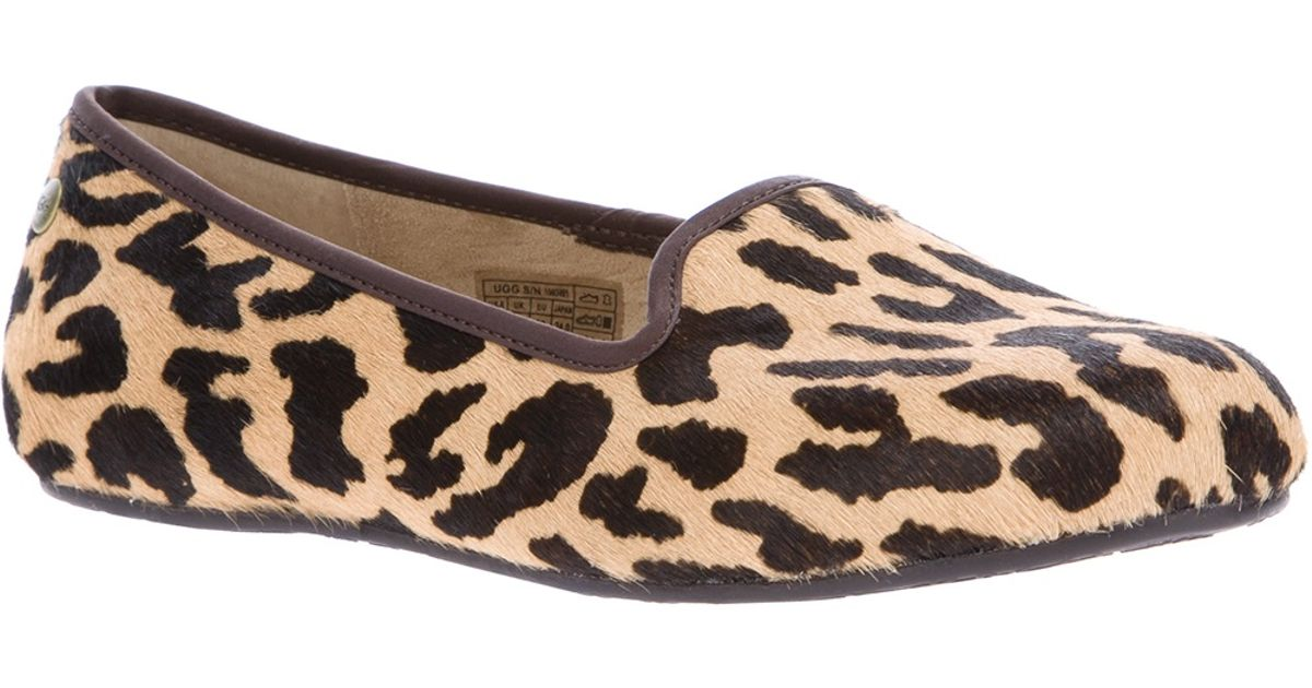 a3f299d4c11 UGG Brown Alloway Leopard Print Slipper