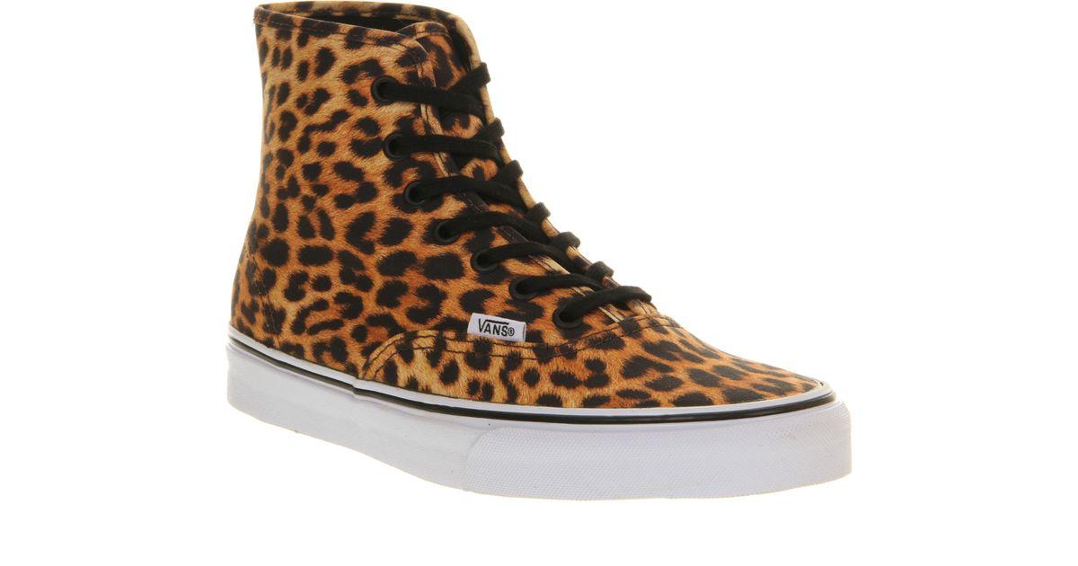 Vans Authentic Hi Leopard Print