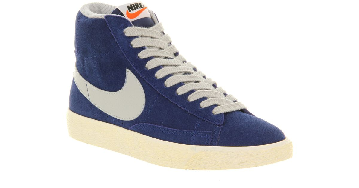 online retailer c40f5 148fd Lyst - Nike Blazer Hi Suede Vintage in Blue for Men