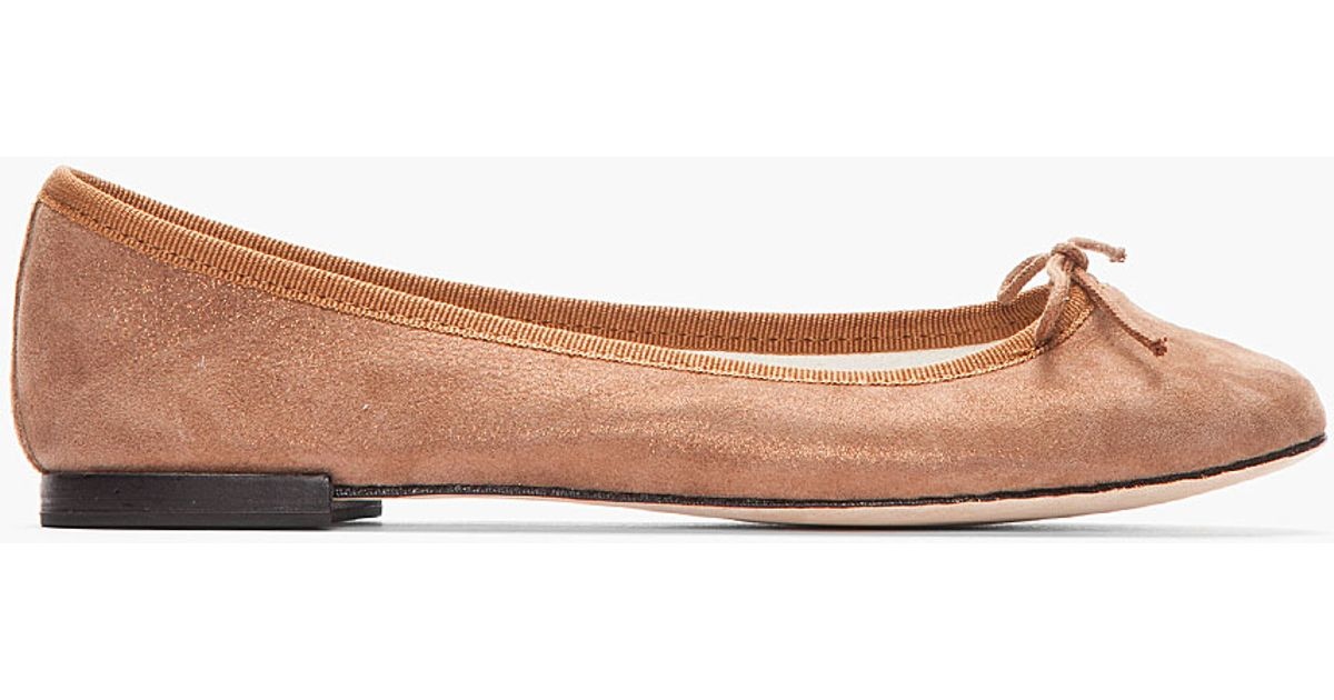 Repetto Metallic Suede Flats buy cheap prices buy cheap shop for free shipping latest kUtgw