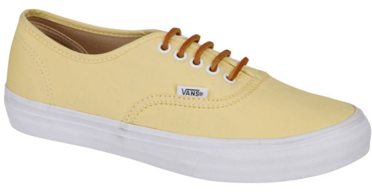 3638654feed4 Vans Authentic Slim Brushed Twill Trainer in Yellow for Men - Lyst