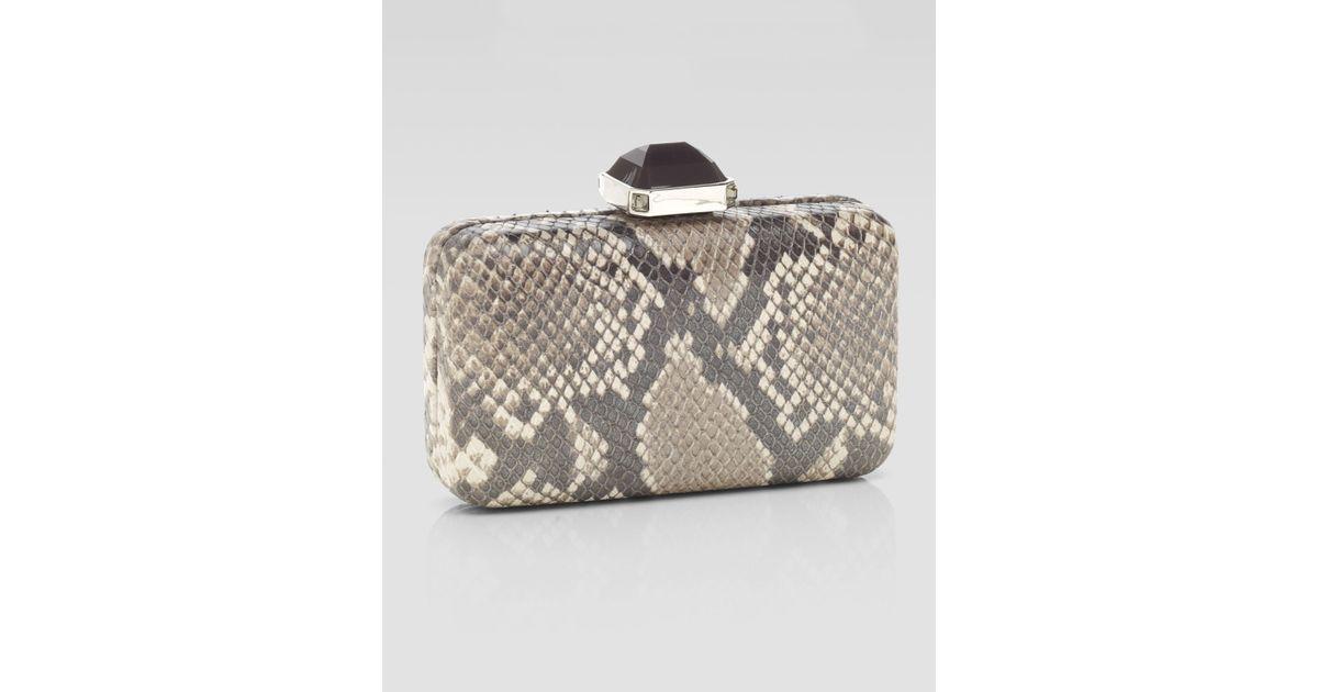 Lyst - Overture Judith Leiber Jamie Flat Frame Rectangle Clutch Bag ...