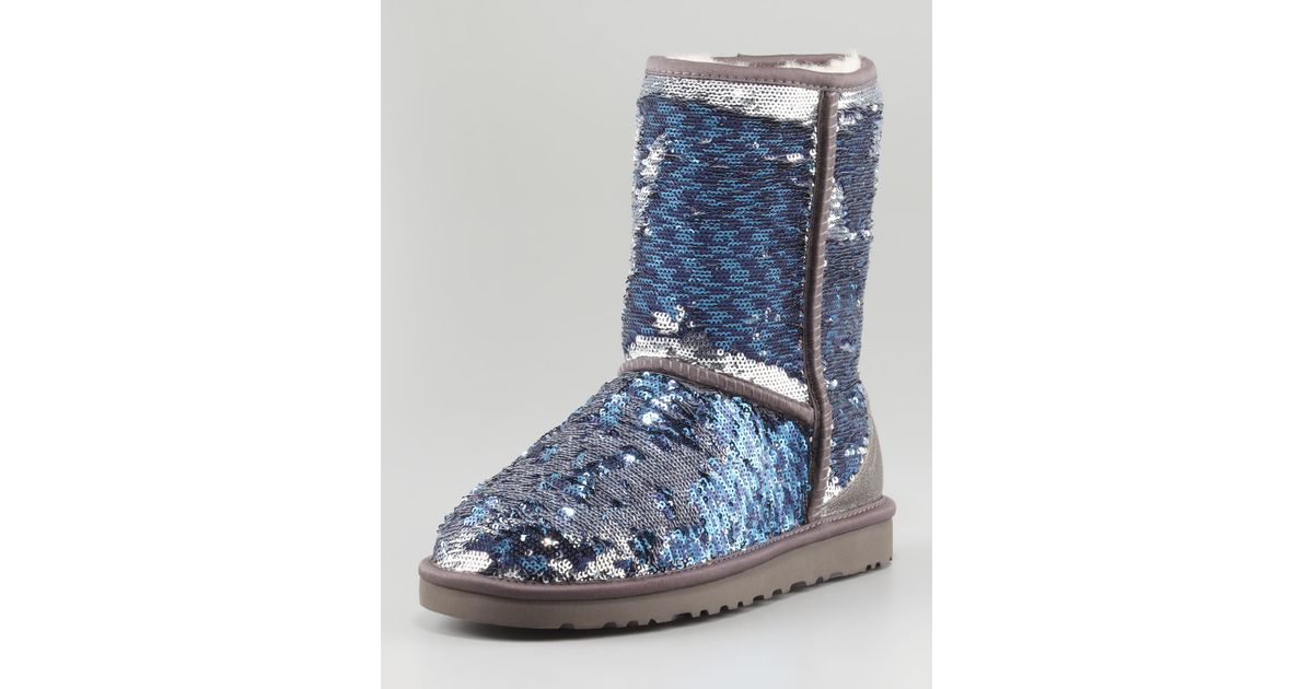 UGG Sparkles Classic Short Boot Midnight Multi in Blue - Lyst