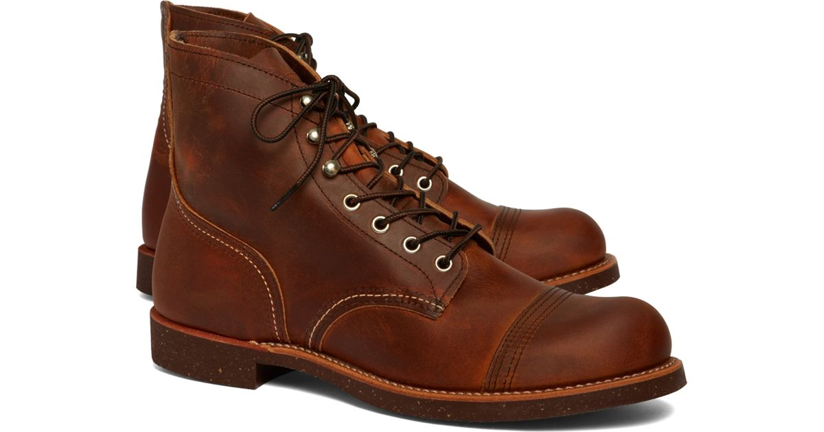 2cb7bb231cb Brooks Brothers Brown Red Wing 8111 Amber Harness for men