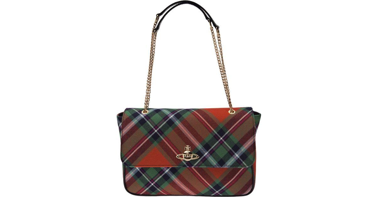 c7d57622dc Vivienne Westwood Winter Tartan Bag - Lyst