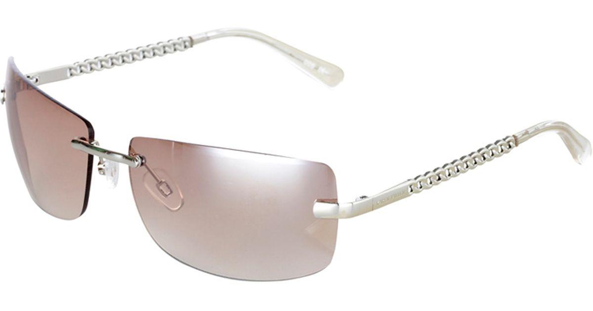 154245336f2 Karen Millen Rimless Square Sunglasses in Gray - Lyst