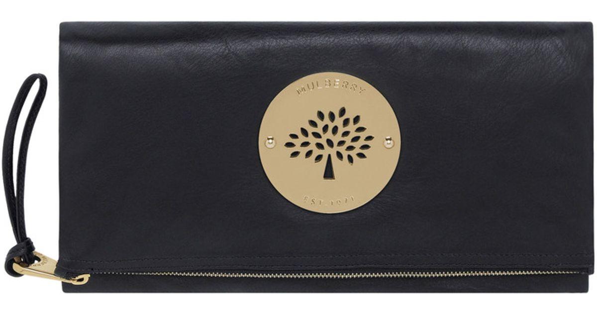 Lyst - Mulberry Daria Clutch in Black 8c26153889570