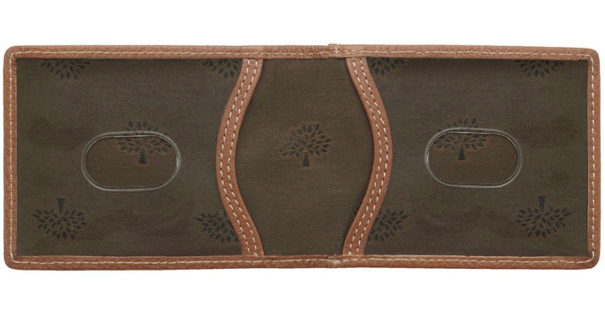3af160878cc ... usa mulberry travel card holder in brown for men lyst 4201d e05aa