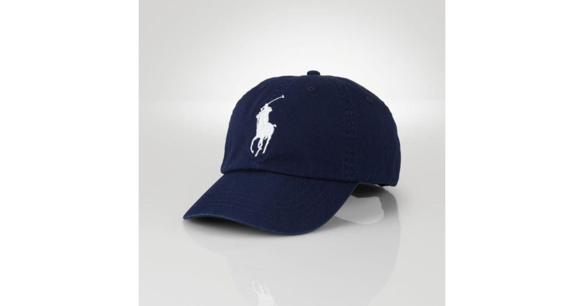 Lyst - Polo Ralph Lauren Wimbledon Big Pony Sports Cap in Blue for Men d00c4391a4ab