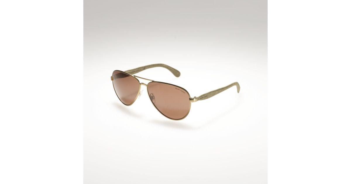 c2ca12a10b29 Lyst - Ralph Lauren Safari Pilot Sunglasses in Brown for Men