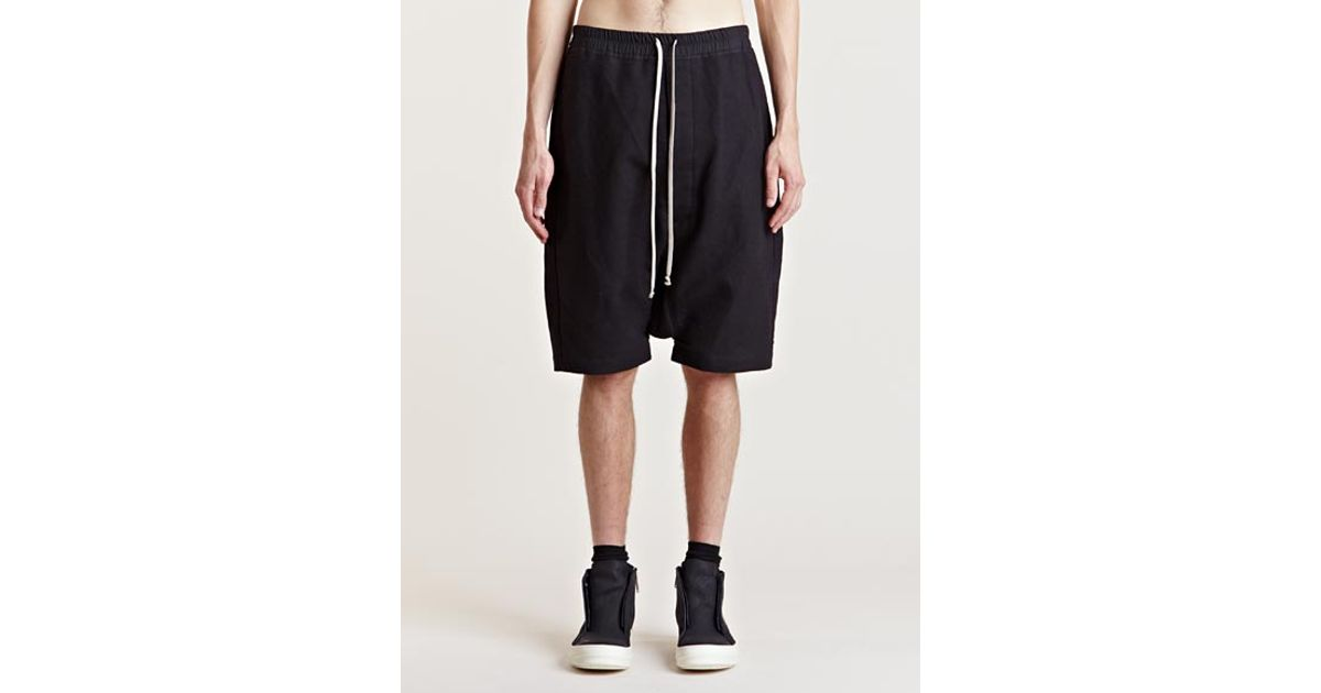 Rick Owens Long shorts with drop crotch Free Shipping Recommend Cheap Footlocker Footlocker For Sale Free Shipping Big Sale tCDSkX