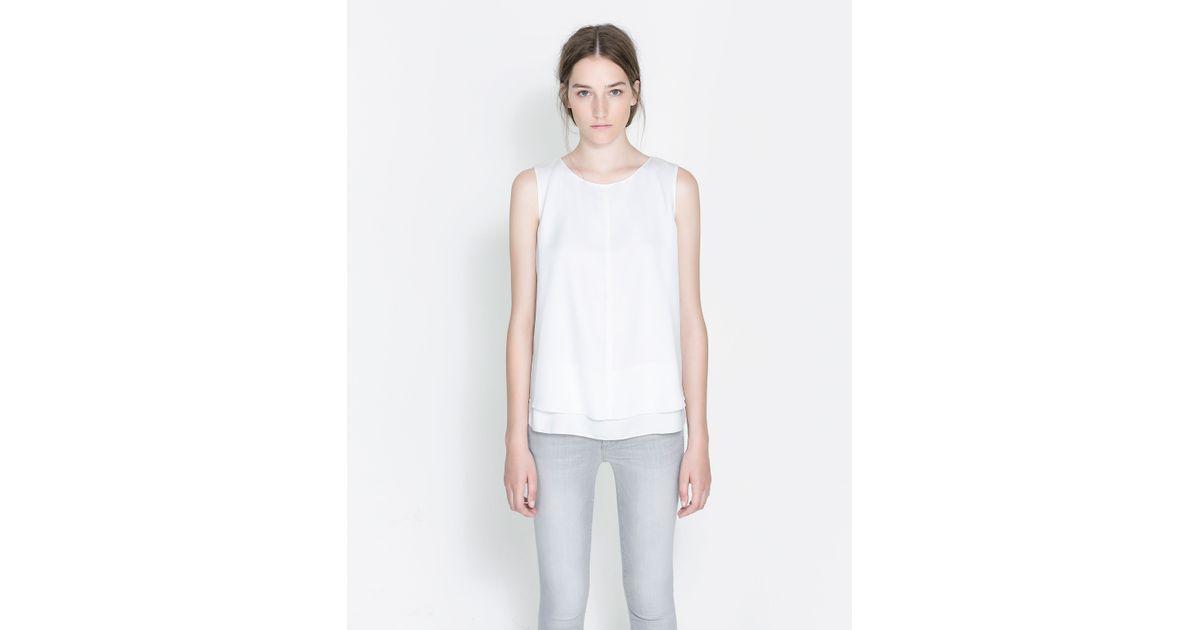 Zara Sleeveless Blouse 17