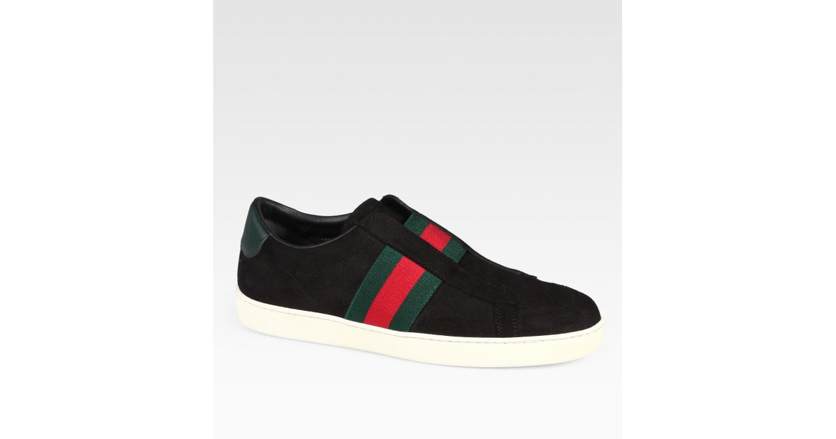 Gucci Laceless Suede Leather Sneakers