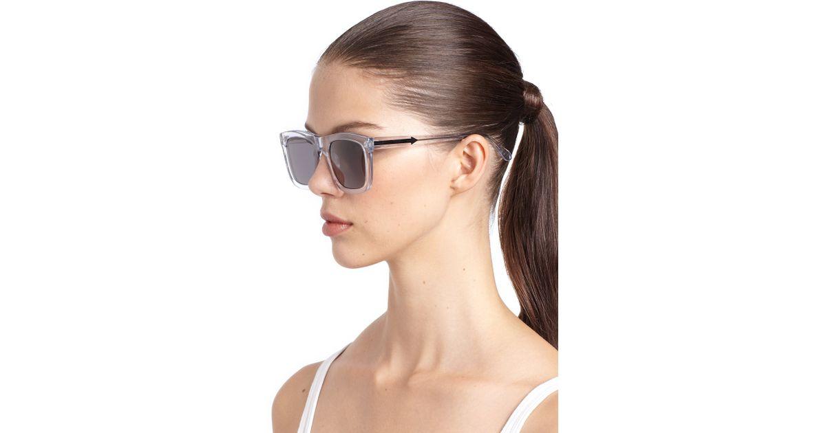 17e1803259ed Karen Walker Deep Freeze Square Sunglasses - Lyst